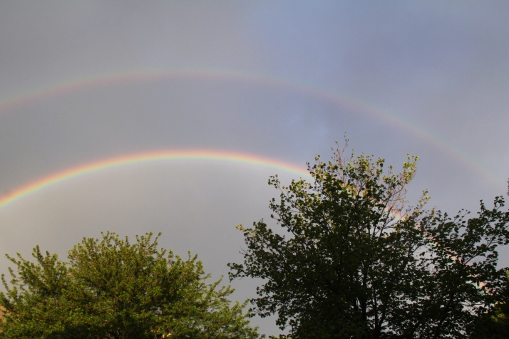 Double rainbow on April 18, 2012, the day of Kyleigh's Celebration of Life